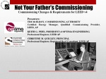 Not Your Father's Commissioning