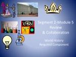 Segment 2-Module 5 Review & Collaboration