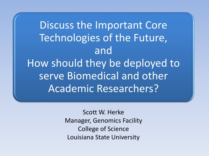 scott w herke manager genomics facility college n.
