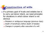 Construction of wills