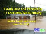 Floodplains and Permitting in Charlotte/Mecklenburg