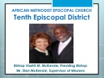 AFRICAN METHODIST EPISCOPAL CHURCH Tenth Episcopal District