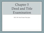 Chapter 5 Deed and Title Examination