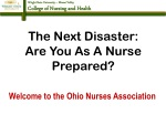 The Next Disaster:  Are You As A Nurse Prepared?