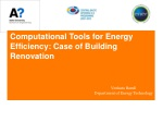 Computational Tools for Energy Efficiency: Case of Building Renovation