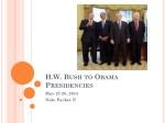 H.W. Bush to Obama  Presidencies