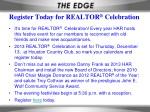 Register Today for REALTOR ® Celebration