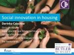 Social innovation in housing