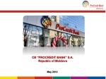 "CB ""PROCREDIT BANK"" S.A. Republic of Moldova"