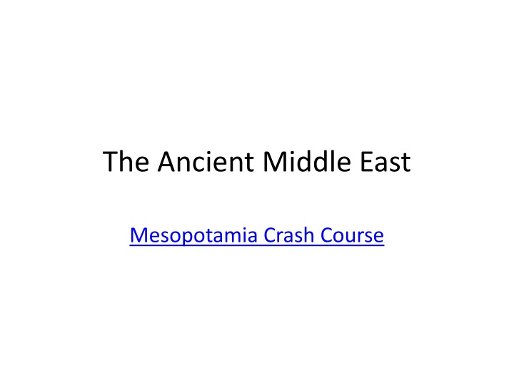 the ancient middle east n.