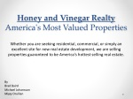 Honey and Vinegar Realty America's Most Valued Properties