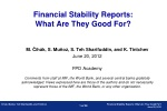 Financial Stability Reports:  What Are They Good For?
