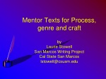 Integrating the teaching of  reading and writing: Process, genre and craft.