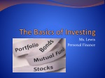 The Basics of Investing