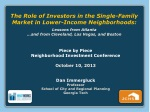 The Role of Investors in the Single-Family Market in Lower-Income Neighborhoods: