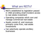 What are REITs?