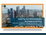 Scaled Fees by Professional Bodies: the Singapore experience MyCC Public Consultation on Professional Bodies under CA