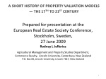 A  SHORT HISTORY OF PROPERTY  VALUATION MODELS — THE 17 TH  TO 21 ST  CENTURY