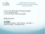 ExCEL After School Program Lead Agency/Site Coordinator Meeting January 28, 2014