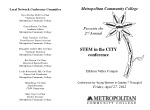 Metropolitan Community College Presents the 2 nd Annual STEM in the CITY conference