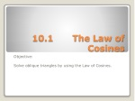 10.1		The Law of Cosines