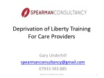 Deprivation of Liberty Training For Care Providers