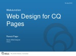 Web Design for CQ Pages