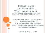 Bullying and Harassment: What every school employee should know