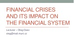 financial crises  and its impact on  the financial syste m