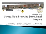 (SIGGRAPH 2010) Street Slide: Browsing Street Level Imagery