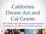California Dream Act and Cal Grants