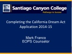 Completing the California Dream Act Application 2014-15