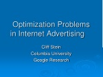 Optimization Problems in Internet Advertising