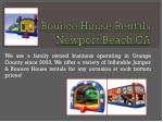 Inflatables Newport Beach CA