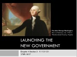 Launching the New Government