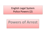 English Legal System Police Powers (2)