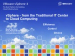 vSphere - from the Traditional IT Center to Cloud Computing