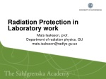 Radiation Protection in Laboratory work