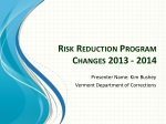 Risk Reduction Program Changes 2013 - 2014
