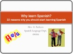 Why learn Spanish? 10 reasons why you should start learning Spanish
