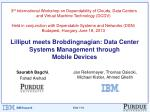 Lilliput meets  Brobdingnagian : Data Center Systems Management through Mobile Devices