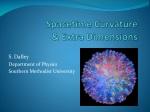 Spacetime Curvature & Extra Dimensions