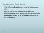 Uprisings in Arab lands