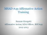 MSAD #49 Affirmative Action Training