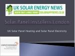 Solar Panel Installation London