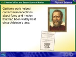 Aristotle, Galileo, and Newton