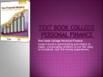 TextbookCollege Personal Finance