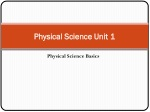 Physical Science Unit 1