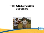 TRF Global Grants District 5470