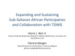 Expanding and Sustaining Sub-Saharan African Participation and Collaboration with TDWG